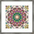 Colorful Concentric Abstract Framed Print