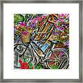 Flower Bike Collection Framed Print