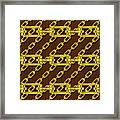 Iron Chains With Wood Seamless Texture Framed Print
