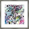 Abstract Expressionsim Art Framed Print