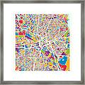 Dallas Texas City Map Framed Print