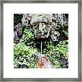 Public Fountain In Palma Majorca Spain Framed Print
