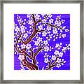White Tree In Blossom, Painting Framed Print