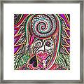 A Circle Of Thoughts Framed Print