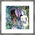 A Garden Muse Framed Print