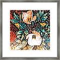 A Holiday Bouquet Framed Print