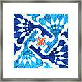 A Multan Pottery Tile, Pakistan, Late 15th Century, By Adam Asar, No 19x Framed Print