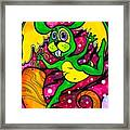 A Rabbit In Space Framed Print