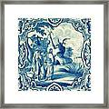 A South-german Faience Stove Tile Second Half 18th Century, By Adam Asar, No 18a Framed Print