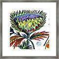 A Thistle Framed Print