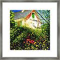 A View Of Monets House In Giverny France Framed Print