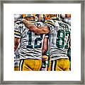 Aaron Rodgers Jordy Nelson Green Bay Packers Art Framed Print
