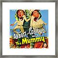 Abbott And Costello Meet The Mummy Aka Framed Print by Everett
