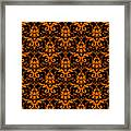 Abby Damask With A Black Background 03-p0113 Framed Print