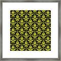 Abby Damask With A Black Background 05-p0113 Framed Print