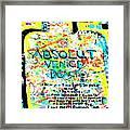 Absolut Venice Beach Framed Print
