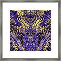 Abstract Amethyst  With Gold Marbled Texture Framed Print
