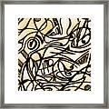 Abstract Art Gold 2 Framed Print