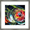 Abstract Baboon Fish Framed Print