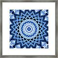 Abstract Blue 17 Framed Print