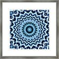 Abstract Blue 25 Framed Print