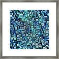 Abstract Blue And Green Pattern Framed Print