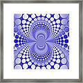 Abstract Blue And White Pattern Framed Print