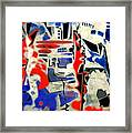 Abstract Cafe I Framed Print by Therese AbouNader