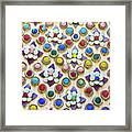 Abstract Ceramic Wall Background Framed Print