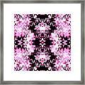 Pink And Black Design  Framed Print