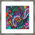 Abstract Colorful Floral Design Framed Print