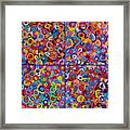 Abstract Colorful Flowers 4 Framed Print