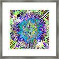 Abstract Colorful Tie Dye Framed Print