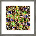 Abstract Drawing Panel Framed Print