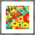 Abstract Floral Fantasy Panel A Framed Print