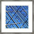 Abstract Geometric Reflection Framed Print by by Fabrice Geslin