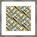 Abstract Gold Lines Framed Print