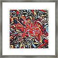 Abstract In Red Framed Print