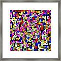 Abstract Laberinto 2 Framed Print