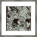 Abstract Landscape - Hand Drawn Pattern Framed Print