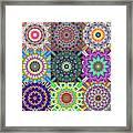 Abstract Mandala Collage Framed Print
