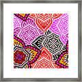 Abstract Mandala Floral Design Framed Print