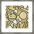 Funky Monkey - Zeeko Abstract Monkey Framed Print