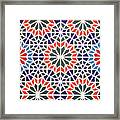 Abstract Moroccon Tiles Colorful Framed Print