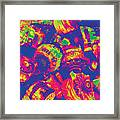 Abstract Multi-colors Metal Junk Framed Print