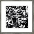 Abstract Of Zebras Statue In Various Sizes  Framed Print