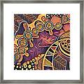 Abstract Pattern With Purple Framed Print