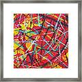 Abstract Pizza 2 Framed Print