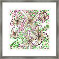 Abstract Red And Green Design #1 Framed Print