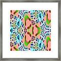 Abstract Seamless Pattern - Blue Pink Green Purple Framed Print